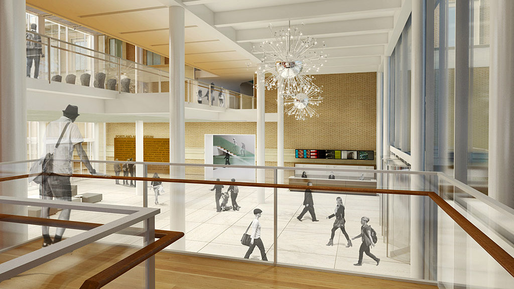 Rendering of lobby from stairs