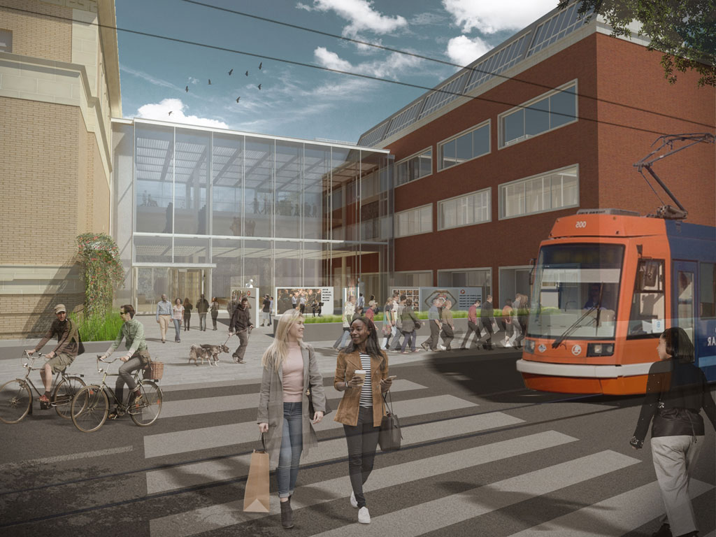 10th Avenue entrance and West Plaza design concept