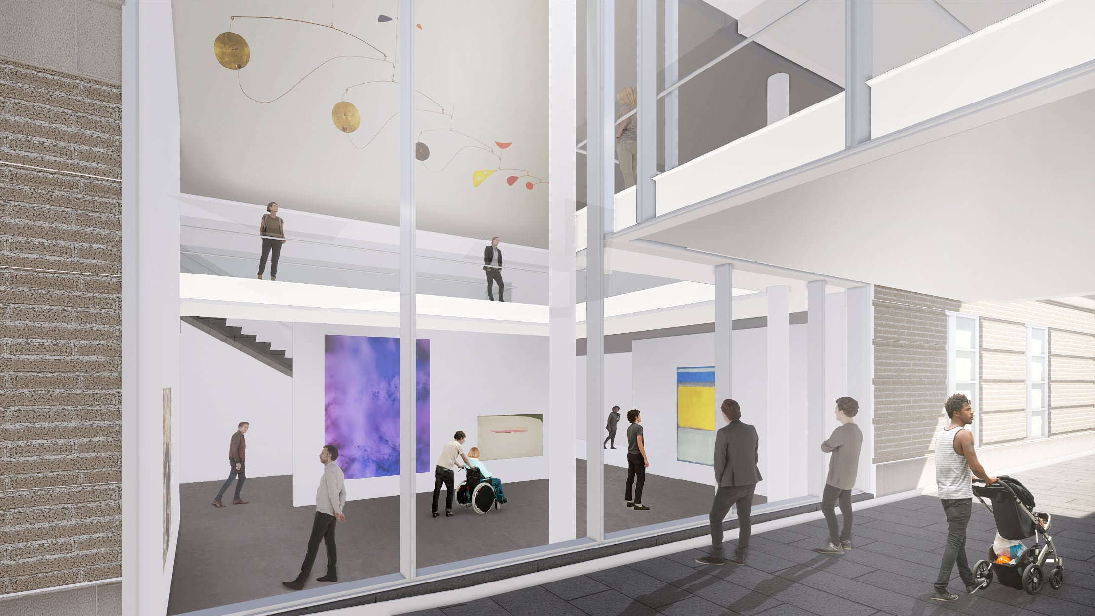 Architectural drawing of the current passage gallery design concept.
