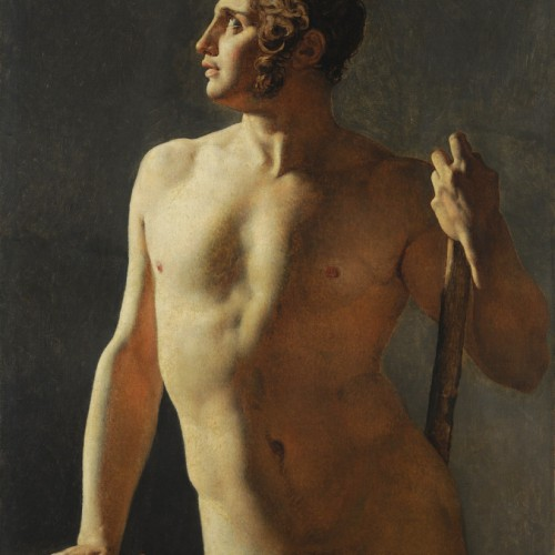 Jean-Auguste-Dominique Ingres, Torso, 1800, Oil on canvas, 40 3/16 x 31 1/2 in., École des Beaux-Arts, Paris (Torse 15), Courtesy American Federation of Arts.