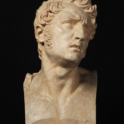 David d'Angers (Pierre-Jean David), Pain, 1811, Plaster (patinated), 26 11/16 x 12 x 10 1/4 in., École des Beaux-Arts, Paris (TES 4), Courtesy American Federation of Arts.