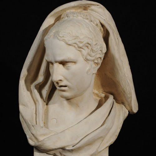 François Rude, Attention Mingled with Fear, 1812, Plaster (patinated), 26 3/16 x 15 9/16 x 12 3/16 in., École des Beaux-Arts, Paris (TES 5), Courtesy American Federation of Arts.