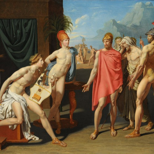 Jean-Auguste-Dominique Ingres, Achilles Receiving the Ambassadors of Agamemnon, 1801, Oil on canvas, 44 1/2 x 57 1/2 in., École des Beaux-Arts, Paris (PRP 40), Courtesy American Federation of Arts.