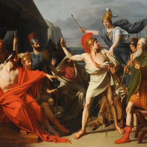 Michel-Martin Drolling, The Wrath of Achilles, 1810, Oil on canvas, 44 1/2 x 57 1/2 in., École des Beaux-Arts, Paris (PRP 48), Courtesy American Federation of Arts.