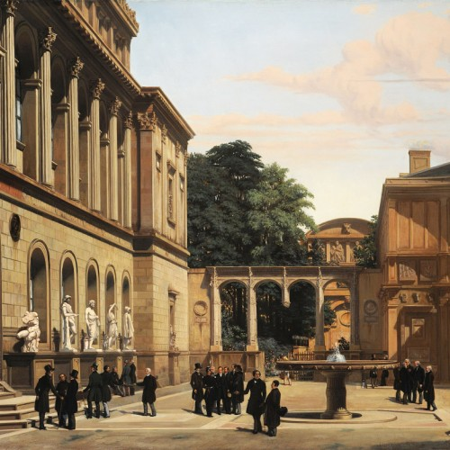 Charles-Léon Vinit, The Second Courtyard of the École des Beaux-Arts, 1850, Oil on canvas, 35 13/16 x 45 1/4 in., École des Beaux-Arts, Paris (MU 8501), Courtesy American Federation of Arts.