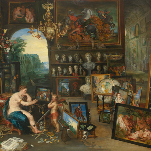 Jan Brueghel the Younger, The Five Senses: Sight, c. 1625, Oil on panel, 27 5/8 x 44 5/8 inches, Paul G. Allen Family Collection