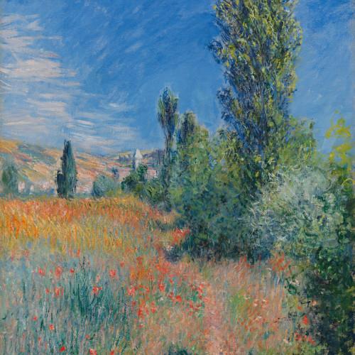 Claude Monet, En Paysage dans l'île Saint-Martin, 1881, Oil on canvas, 28 13/16 x 23 5/8 inches, Paul G. Allen Family Collection