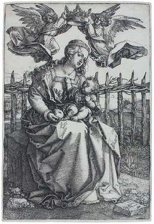 Albrecht Durer, The Virgin and Child Crowned by Two Angels