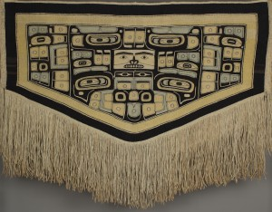 Unknown Tlingit artist (Tlingit), Chilkat Robe, ca. 1880, cedar bark, cotton yarn, and mountain goat wool yarn, The Elizabeth Cole Butler Collection, no known copyright restrictions, 87.88.80.