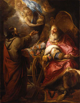 Unknown Flemish artist,  active mid-17th century, The Repentant King David, 1650, oil on canvas, Gift of Dr. and Mrs. Edwin Binney.