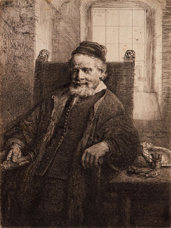 Rembrandt Harmensz van Rijn (Dutch, 1606-1669), Portrait of Jan Lutma, Goldsmith, 1656, etching, drypoint, and engraving on paper, Gift of Ruth Cole and Jacob Kainen, no known copyright restrictions, 83.89.29.
