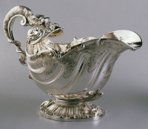 Paul Storr (English, 1771-1844), Pair of Regency Sauceboats (single sauceboat pictured), 1819-1820, silver (sterling standard), Museum Purchase: The William H. Nunn Trust Fund, established in memory of his wife, Alice B. Nunn, no known copyright restrictions, 76.7.2.