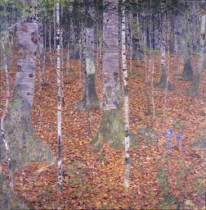 Gustav Klimt, Birch Forest, 1903, Oil on canvas, Paul G. Allen Family Collection.