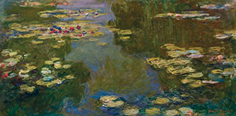 Claude Monet, Le Bassin aux Nymphéas, 1919, Oil on canvas, Paul G. Allen Family Collection.