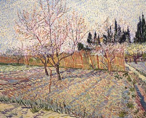 Vincent van Gogh, Orchard with Peach Trees in Blossom, 1888, Oil on canvas, Paul G. Allen Family Collection.