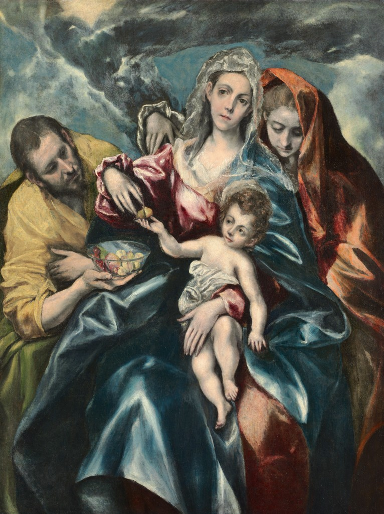 El Greco [Domenikos Theotokopoulos] (Spanish, born Greece, 1541-1614), The Holy Family with Saint Mary Magdalen, 1590-1595, oil on canvas, The Cleveland Museum of Art, Gift of Friends of the Cleveland Museum of Art in memory of J.H. Wade.