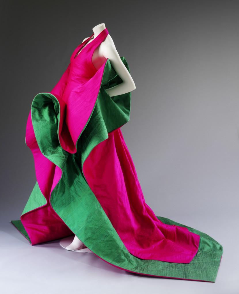 Roberto Capucci, silk evening dress, 1987-88. Courtesy Roberto Capucci Foundation. Photo © Victoria and Albert Museum, London.