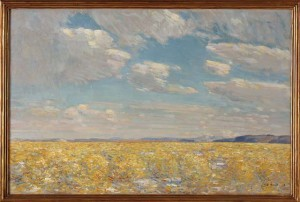 Childe Hassam (American, 1859-1935), Afternoon Sky, Harney Desert, 1908, oil on canvas, Gift of August Berg, Henrietta E. Failing, Winslow B. Ayer, William D. Wheelwright, I.N. Fleischner, and the D.P. Thompson Estate, no known copyright restrictions, 08.1.