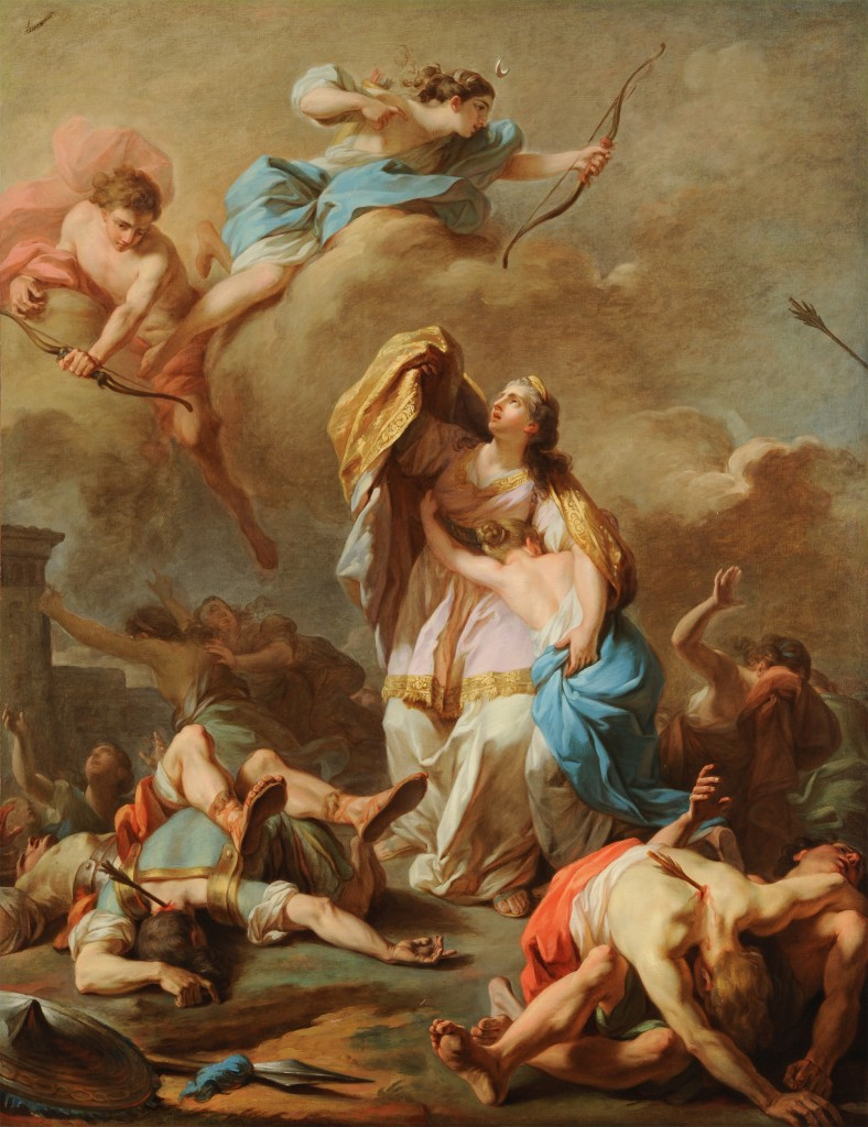Pierre-Charles Jombert, Apollo and Diana Killing the Children of Niobe, 1772