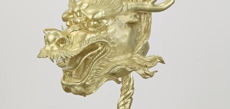 Ai Weiwei, Circle of Animals/Zodiac Heads: Gold (detail: Dragon)