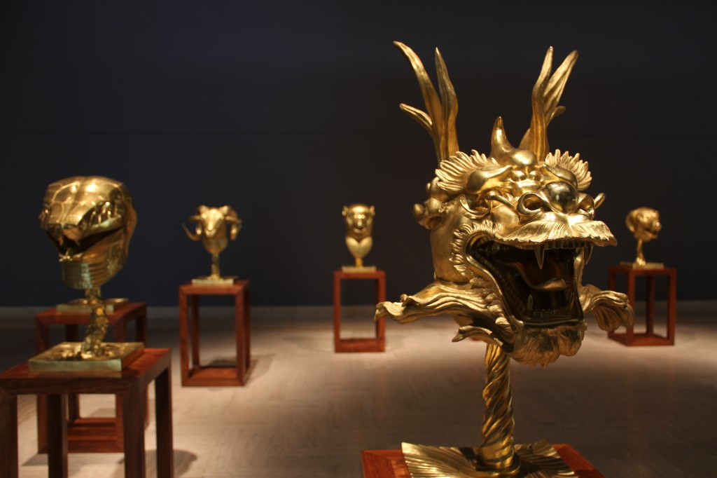 Ai Weiwei, Circle of Animals/Zodiac Heads: Gold, 2010, Bronze with gold patina, Dimensions variable. Private Collection. Images courtesy of Ai Weiwei.