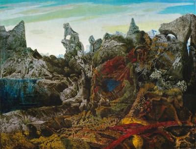 Max Ernst, Paysage avec lac et chimères