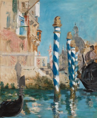 Edouard Manet, View in Venice-The Grand Canal