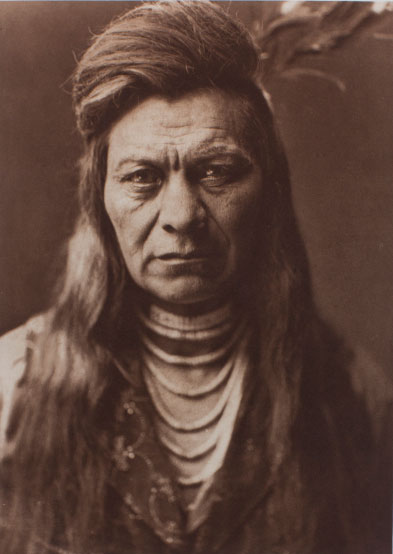 Edward Curtis, Black Eagle, Nez Percé, 1911, photogravure, from The North American Indian.