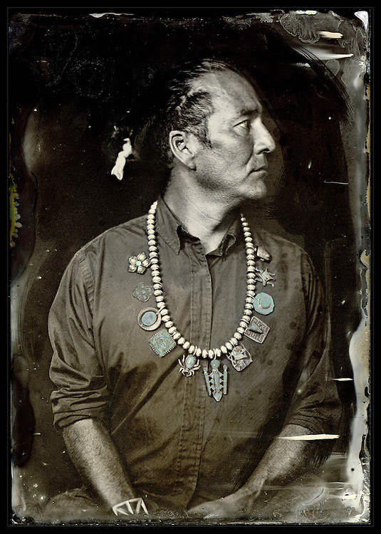 Will Wilson, William Wilson, Citizen of the Navajo Nation, Trans-Customary Diné Artist, 2012, from the series Critical Indigenous Photographic Exchange. Courtesy of the artist.