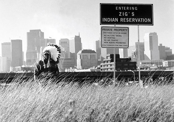 Zig Jackson, Untitled, 1998, from the series Entering Zig's Reservation, gelatin silver print. Courtesy of the artist.