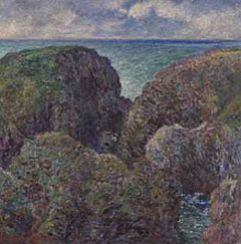 Claude Monet (French, 1840–1926), Bloc de rochers à Port-Goulphar (Group of Rocks in Port-Goulphar), 1887