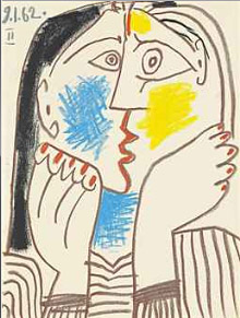 Pablo Picasso (Spanish, active France, 1881–1973), Téte appuyée sur les mains (Head Resting on Hands), 1962