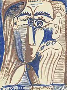 Pablo Picasso, Tête appuyée sur la main (Head Resting on Hand)