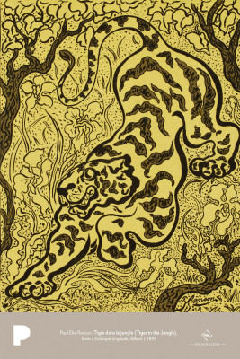 Paul Elie Ranson, Tigre dans le jungle (Tiger in the Jungle), from L'Estampe originale, Album I, 1893
