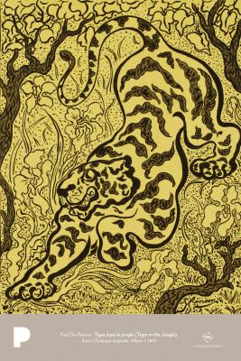 Paul Elie Ranson, Tigre dans le jungle (Tiger in the Jungle), from L'Estampe originale, Album I, 1893
