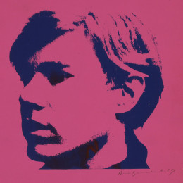 Andy Warhol (American (1928-1987), Self-Portrait (IIIC.1[a]),  circa 1967, Screenprint, © The Andy Warhol Foundation for the Visual Arts, Inc. / Artists Rights Society (ARS).