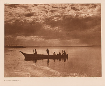 Edward Sheriff Curtis, Sunset on Puget Sound, 1898