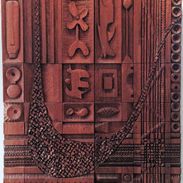Leroy Setziol, Untitled, 1991. Teak. Collection of Carole Smith and Eric Kittleson.