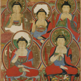 Five Buddhas, unknown artist, 1725
