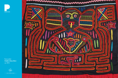 Kuna artist, Child's Mola Shirt, ca. 1970, Cotton and synthetic fabric, 20 x 23 inches, Gift of an anonymous donor, 2016.3.1