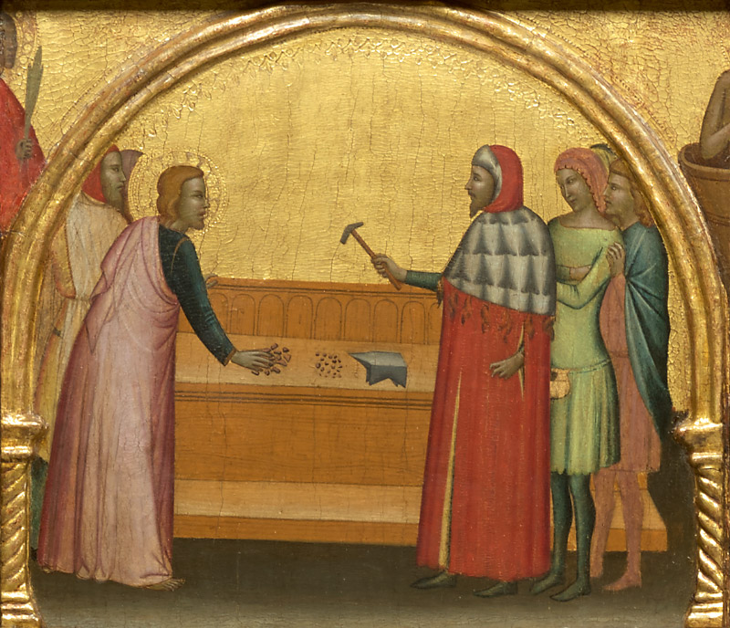 Ghissi panel, Saint John Reproving the Philosopher Crato
