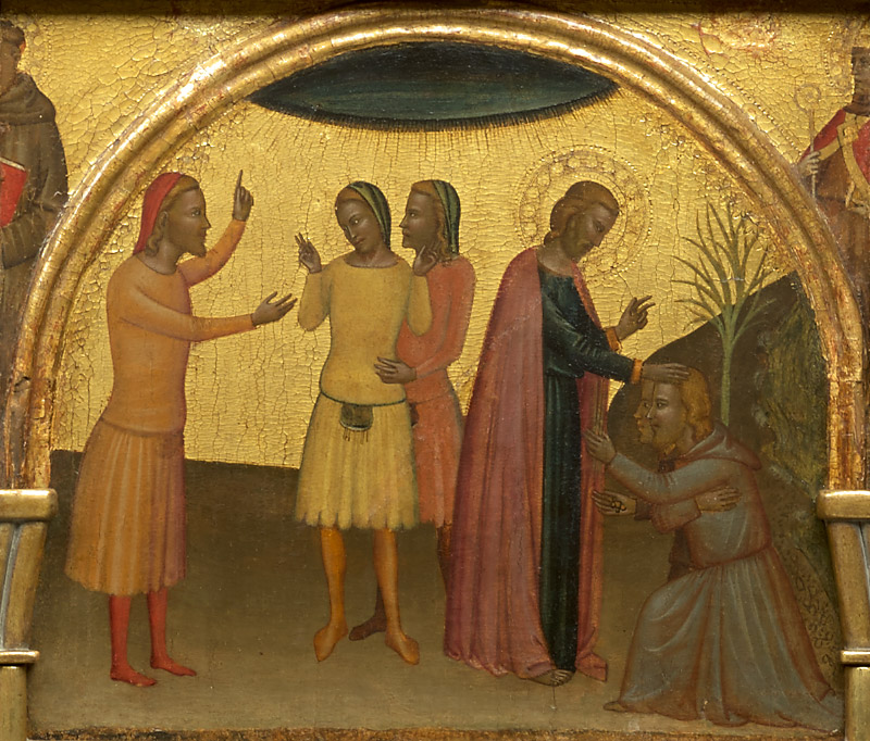 Ghissi panel, Satheus Speaking to Acteus and Eugenius / Acteus and Eugenius Repenting before Saint John