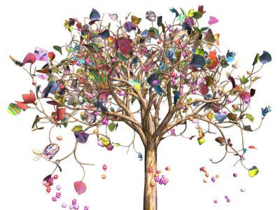 Jennifer Steinkamp, Kamp Tree, 2015