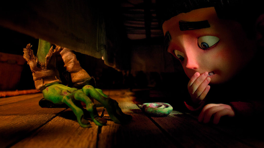 ParaNorman (Film Still), Norman has a close scrape with a Zombie. PARANORMAN ©2012, LAIKA, LLC