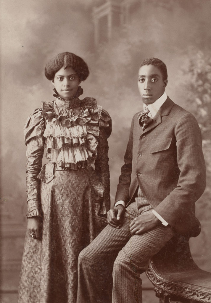 Nottingham Studio, Macon, Missouri, Untitled (Portrait of a Couple), ca. 1898, collodion print, Museum Purchase: Photography Acquisition Fund, no known copyright restrictions, 2015.121.27