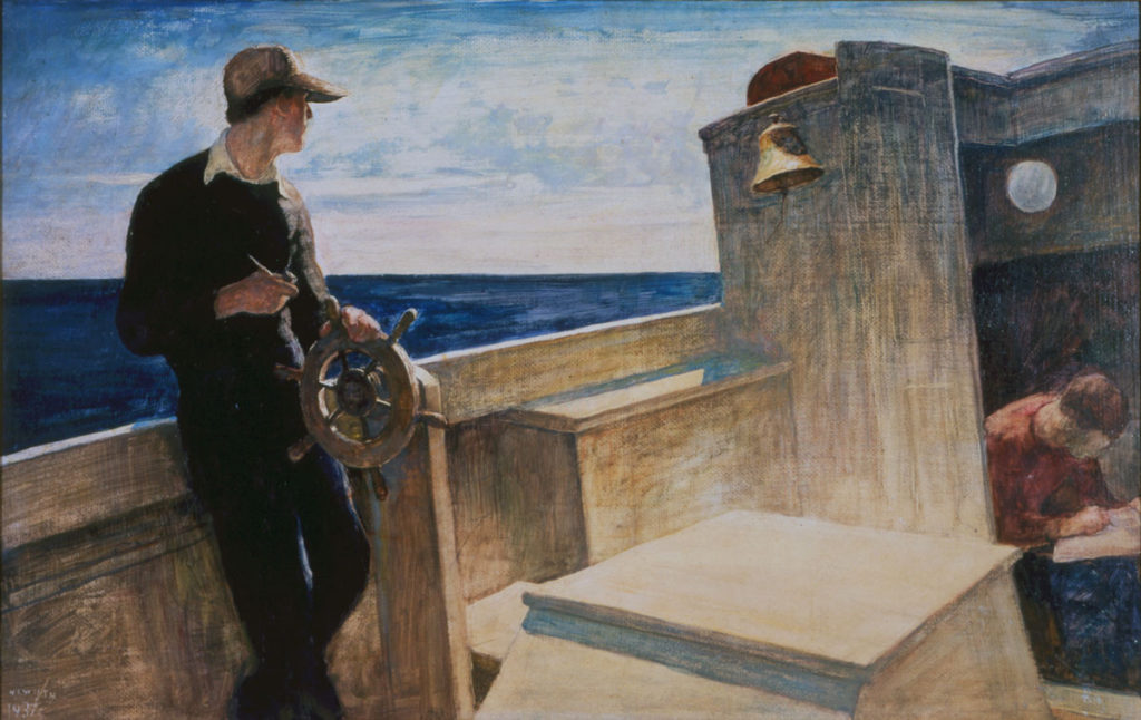 N.C. Wyeth (American, 1882–1945), Eight Bells, 1937, oil on hardboard, Bank of America Collection