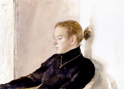 Andrew Wyeth (American, 1917– 2009), Victoria, 1999, Watercolor on paper, Bank of America Collection, © 2017 Andrew Wyeth / Artists Rights Society (ARS), New York