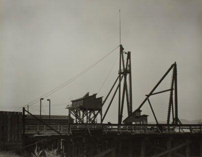 Minor White, Untitled (Dock), ca. 1939, gelatin silver print.