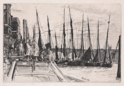 James McNeill Whistler, Billingsgate, 1859, etching and drypoint on cream laid paper, Gift of Mr. and Mrs. Charles E. Shrewsbury, public domain, 82.84.10
