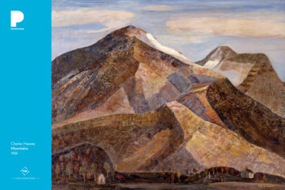 Charles Heaney (American, 1897-1981) Mountains, 1938, Oil on canvas, 33 3/8 x 38 inches Courtesy of the Fine Arts Program, Public Buildings Service, U.S. General Services Administration. Commissioned through the New Deal art projects. Public domain L45.3.4